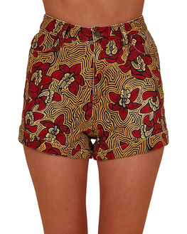 RED WOMENS CLOTHING BILLABONG SHORTS - BB-6507695M-RED