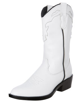 WHITE VINTAGE WOMENS FOOTWEAR ROC BOOTS AUSTRALIA BOOTS - INDIOWHT