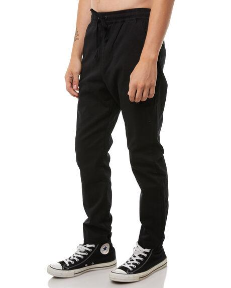 BLACK MENS CLOTHING HUFFER PANTS - MPA81S002BLK