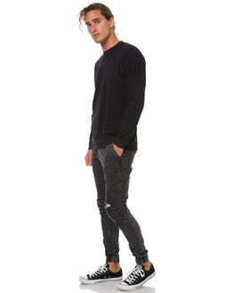 BLACK ACID RIP MENS CLOTHING ZANEROBE PANTS - 708-TDKBKACRP
