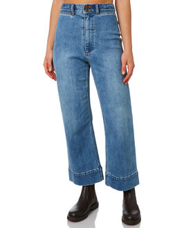 TRUCKER BLUE WOMENS CLOTHING THRILLS JEANS - WTDP-433ETTRKBL