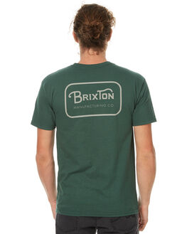 FOREST GREEN MENS CLOTHING BRIXTON TEES - 06251FOGRN