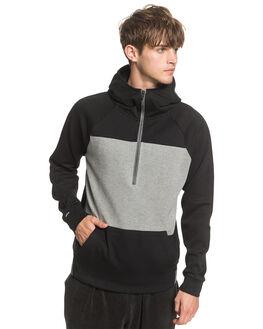 BLACK MENS CLOTHING QUIKSILVER JUMPERS - EQYFT04102-KVJ0