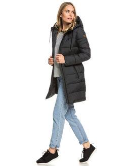 TRUE BLACK WOMENS CLOTHING ROXY JACKETS - ERJJK03274-KVJ0