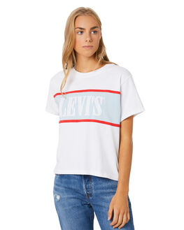WHITE BABY BLUE WOMENS CLOTHING LEVI'S TEES - 85498-0000WHTBB