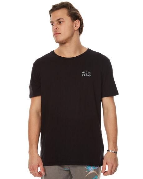 WASHED BLACK MENS CLOTHING GLOBE TEES - GB01710014WBLK