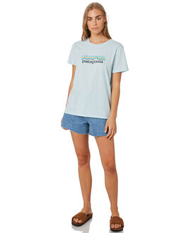 ATOLL BLUE WOMENS CLOTHING PATAGONIA TEES - 39576ATBL
