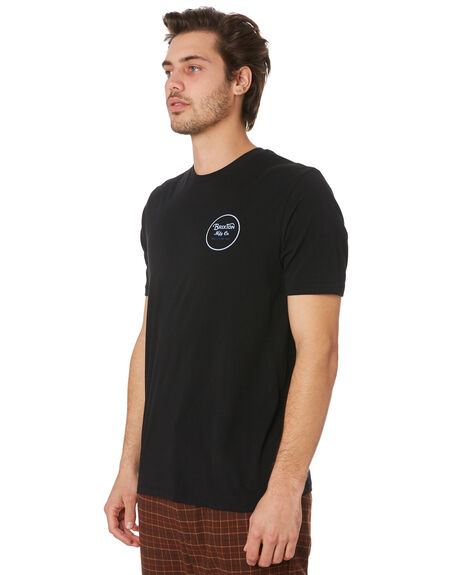 BLACK BLUE MENS CLOTHING BRIXTON TEES - 06485BKBLU