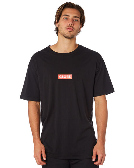 BLACK MENS CLOTHING GLOBE TEES - GB01830002BLK
