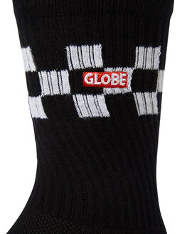 BLACK CHECK MENS CLOTHING GLOBE SOCKS + UNDERWEAR - GB71819032BLKCK