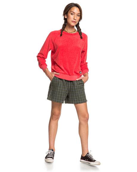 DEEP DEPTHS CHECK WOMENS CLOTHING QUIKSILVER SHORTS - EQWNS03019-CZC1