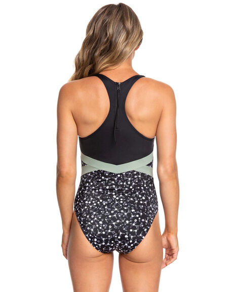 ANTHRACITE PRAIRIE WOMENS SWIMWEAR ROXY ONE PIECES - ERJX103219-XKKW