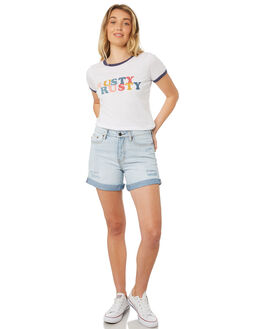 WHITE WOMENS CLOTHING RUSTY TEES - TTL0976WHT