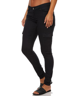 ANTHRACITE WOMENS CLOTHING ROXY PANTS - ERJNP03089KVJ0