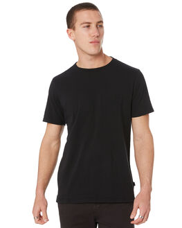 WASHED BLACK MENS CLOTHING RIP CURL TEES - CTEJZ98264