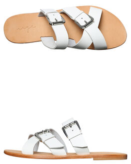 WHITE LEATHER OUTLET WOMENS URGE FASHION SANDALS - URG17060WHT