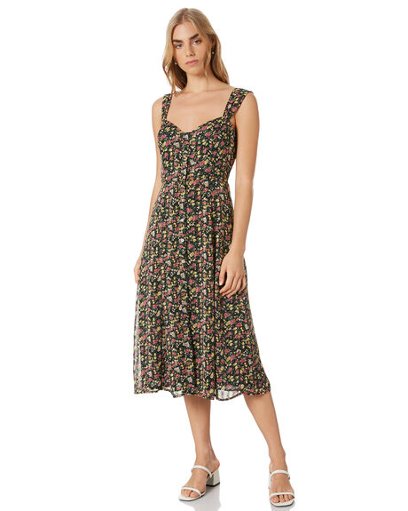 FLORAL WOMENS CLOTHING LULU AND ROSE DRESSES - LU23964FLORAL