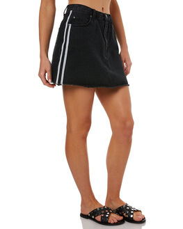 ACES BLACK WOMENS CLOTHING RUSTY SKIRTS - SKL0439ACB