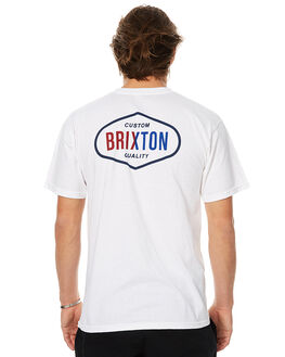 WHITE MENS CLOTHING BRIXTON TEES - 06564WHT