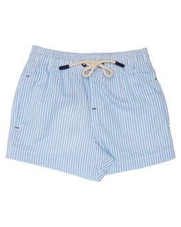 BLUE WHITE KIDS BOYS ROOKIE BY THE ACADEMY BRAND BOARDSHORTS - R20S727BLWHT