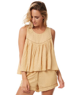 MUSTARD OUTLET WOMENS THE HIDDEN WAY FASHION TOPS - H8182166MSTRD