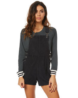 STONE BLACK WOMENS CLOTHING AFENDS PLAYSUITS + OVERALLS - 51-02-088STNBL