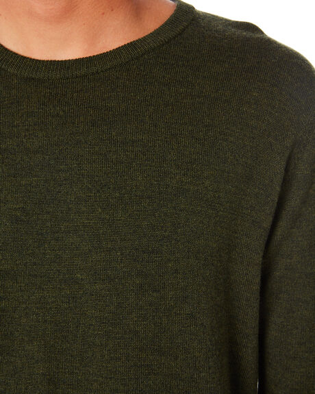 LODEN GREEN MENS CLOTHING ACADEMY BRAND KNITS + CARDIGANS - 20W440LDNGR
