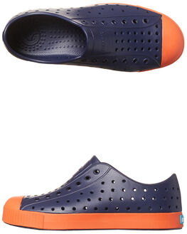 REGATTA BLUE ORANGE KIDS BOYS NATIVE SLIP ONS - 12100100-4213