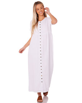 WHITE WOMENS CLOTHING SAINT HELENA DRESSES - SH18AW511-WHT