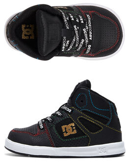 BLACK/MULTI KIDS BOYS DC SHOES FOOTWEAR - ADTS700053-KMI