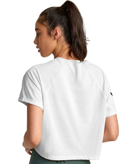 WHITE WOMENS CLOTHING RVCA ACTIVEWEAR - RV-R407874-WHT