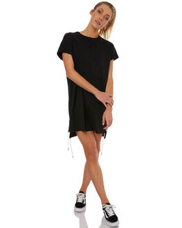BLACK WOMENS CLOTHING RUSTY DRESSES - DRL0890BLK
