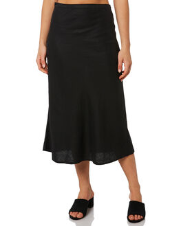 BLACK WOMENS CLOTHING THRILLS SKIRTS - WTS9-308BFBLK