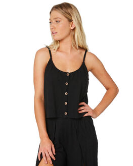 BLACK WOMENS CLOTHING RUSTY FASHION TOPS - SCL0301-BLK