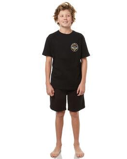 BLACK KIDS BOYS RUSTY SHORTS - WKB0287BLK