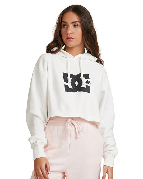 WHITE WOMENS CLOTHING DC SHOES JUMPERS - ADJFT03014-WBB0