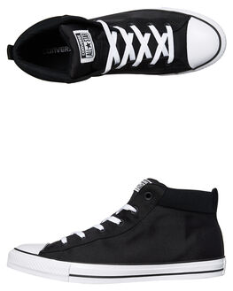 BLACK WHITE WOMENS FOOTWEAR CONVERSE SNEAKERS - SS159605BLKW