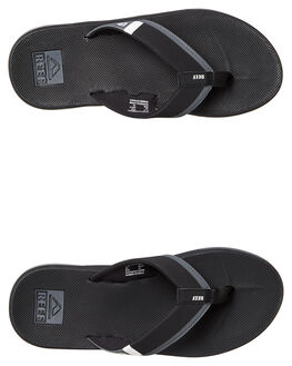 BLACK WHITE MENS FOOTWEAR REEF THONGS - A3KIHBLW