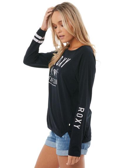 ANTHRACITE WOMENS CLOTHING ROXY TEES - ERJZT04193KVJ0