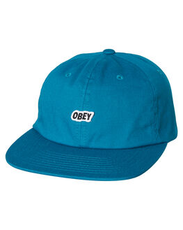 PURE TEAL MENS ACCESSORIES OBEY HEADWEAR - 100580174PTL