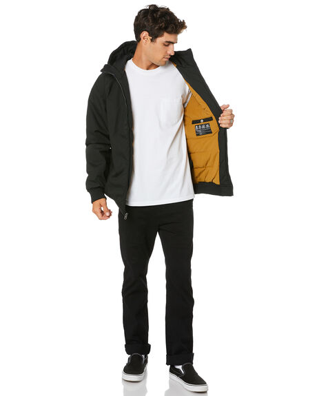 BLACK MENS CLOTHING VOLCOM JACKETS - A1731900BLK