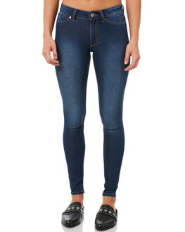 DIM BLUE WOMENS CLOTHING CHEAP MONDAY JEANS - 0355060DIMBL