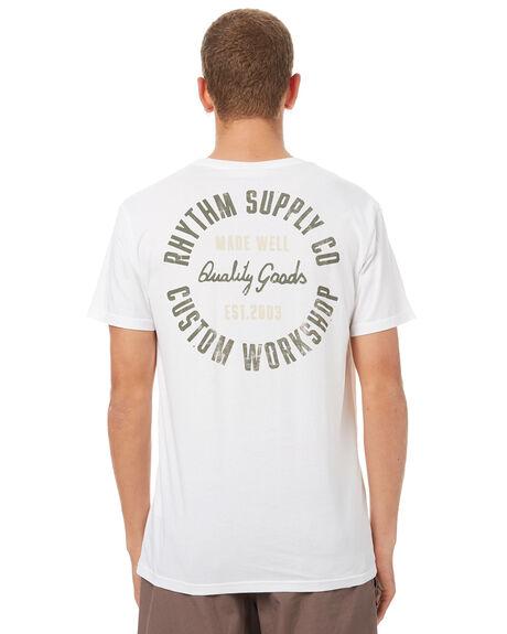 WHITE MENS CLOTHING RHYTHM TEES - OCT17M-PT08-WHT