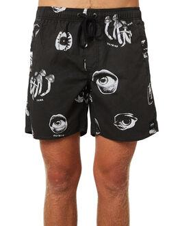 BLACK MENS CLOTHING AFENDS BOARDSHORTS - M184358BLK