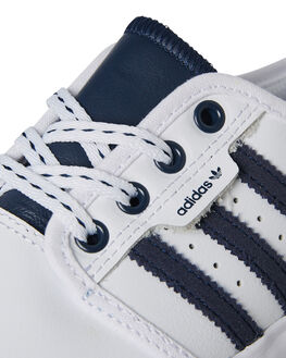 WHITE NAVY KIDS BOYS ADIDAS SNEAKERS - B27803WHI