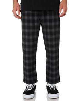 GREY BLACK MENS CLOTHING STUSSY PANTS - ST006602GRYBK