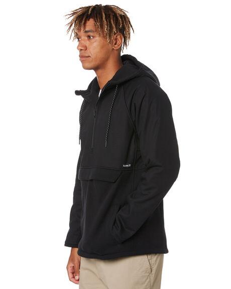 BLACK MENS CLOTHING HURLEY JACKETS - MFT0009650H010