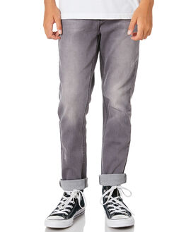 SLATE GREY KIDS BOYS ALPHABET SOUP PANTS - AS-KPA8373BSGRY