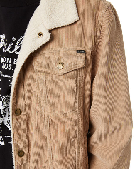 VINTAGE KHAKI MENS CLOTHING THRILLS JACKETS - TDP-227FVKHK