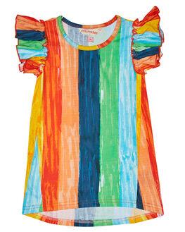 RAINBOW STRIPE KIDS TODDLER GIRLS MUNSTER KIDS DRESSES - MM181DR10RNB
